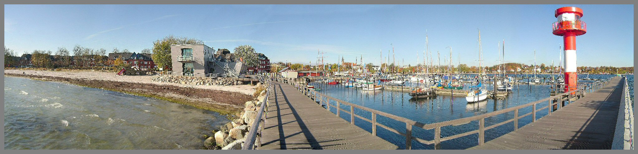Bick auf Eckernförder Hafen & Strand